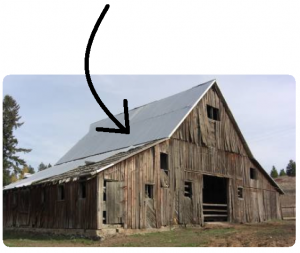 Alberthal Barn with arrow