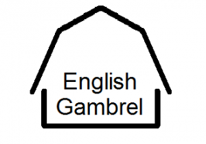 english gambrel with name