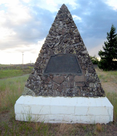 Battle of Spokane Plains monument near Airway Heights