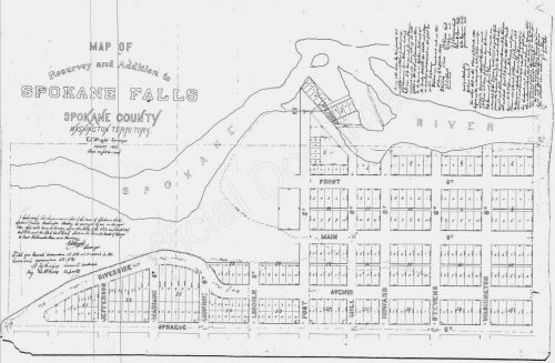 Spokane Falls Plat Map