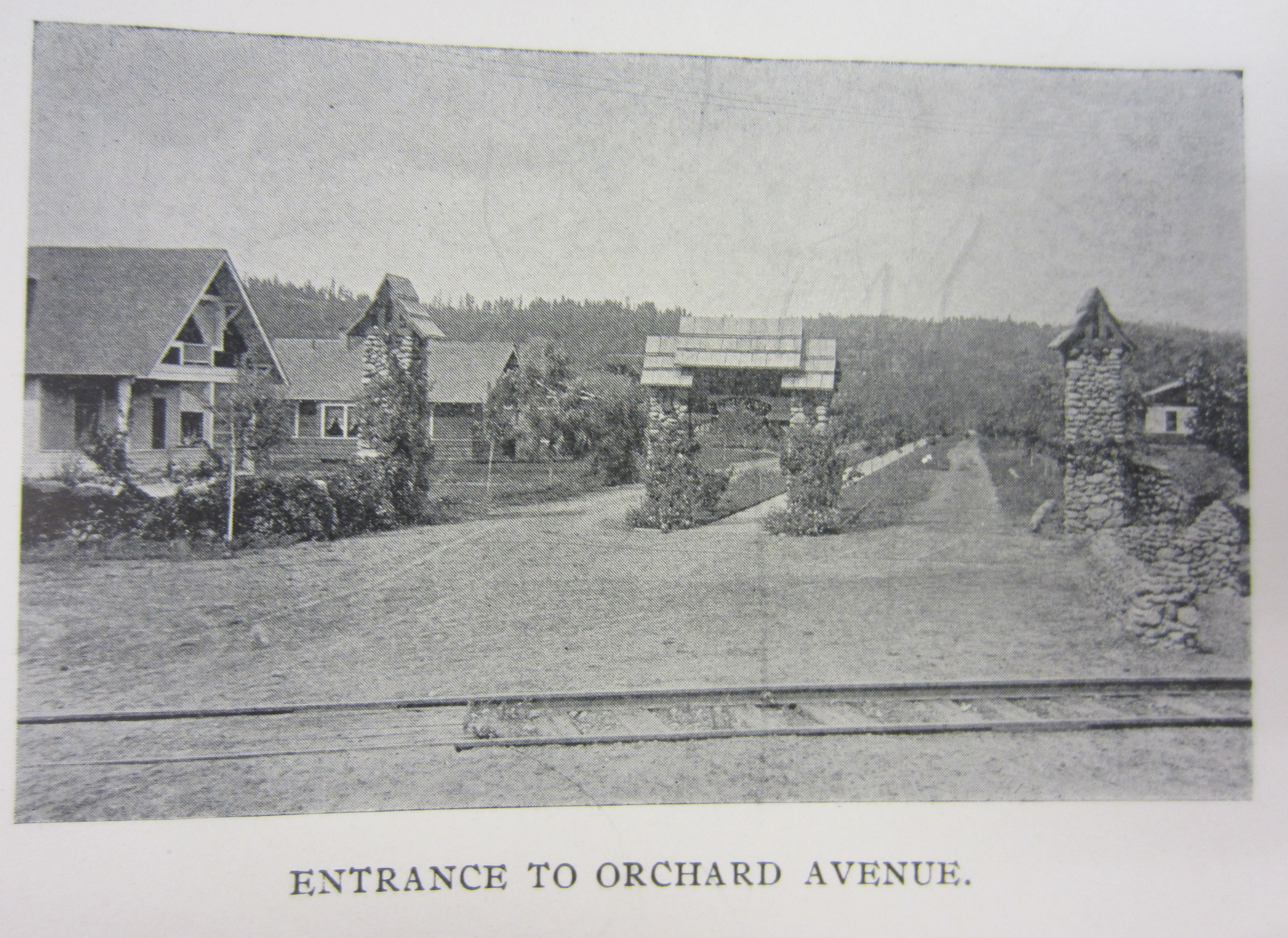 Entrance to Orchard Avenue